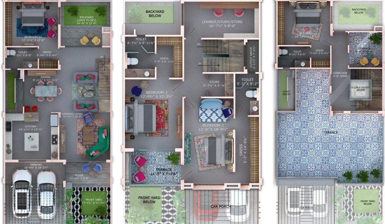 floor-plan-4BHKspring-villa-marigold-plan